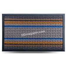 Ковер резиновый Dariana Multicolor 45*75 см с ворсовым покрытием (светло-серый) 1000006081
