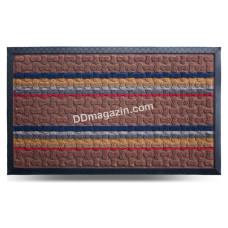 Ковер резиновый Dariana Multicolor 45*75 см, с ворсовым покрытием (комби светло-коричневый) 1000005181