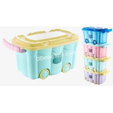 Контейнер детский Akay plastik с ручкой на колесах 50 л