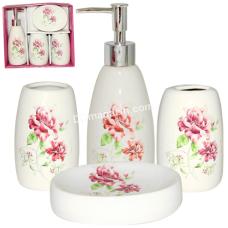 Набор аксессуаров для ванной комнаты S&T Полевые цветы, 4 предмета
