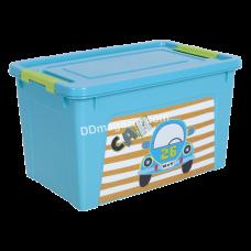 "Контейнер детский ""Smart Box"" с декором 3,5 л. My Car, 24,7*16*14 см (бирюза. / Бирюза. / Оливк. /) 123095"
