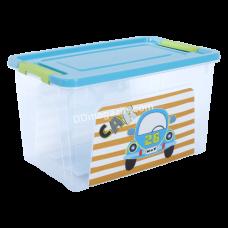 "Контейнер детский ""Smart Box"" с декором 3,5 л. My Car, 24,7*16*14 см (мимо. / Бирюза. / Оливк. /) 123095"