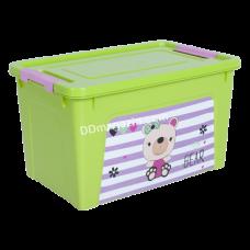 "Контейнер детский ""Smart Box"" с декором 3,5 л. Pet Shop, 24,7*16*14 см (оливк. / Оливк. / Роз. /) 124045"