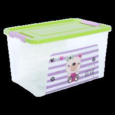 """Контейнер детский """"Smart Box"""" с декором 3,5 л Pet Shop, 24,7*16*14 см (прозрачный/оливковый/розовый) 124045"""