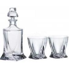 Подарочный набор Bohemia Quadro (стаканы 340мл виски 6шт, графин 750мл) 7пр. 99999-99A44 480 BOH