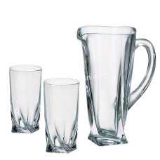 Подарочный набор Bohemia Quadro (стаканы 350мл вода, 6шт, кувшин 700мл) 7пр. 99999 99A44 100 BOH